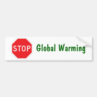 stop_sign_page, Global Warming Bumper Sticker