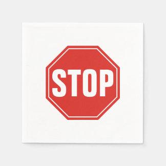 STOP Sign Paper Serviettes