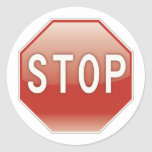 Stop sign round stickers