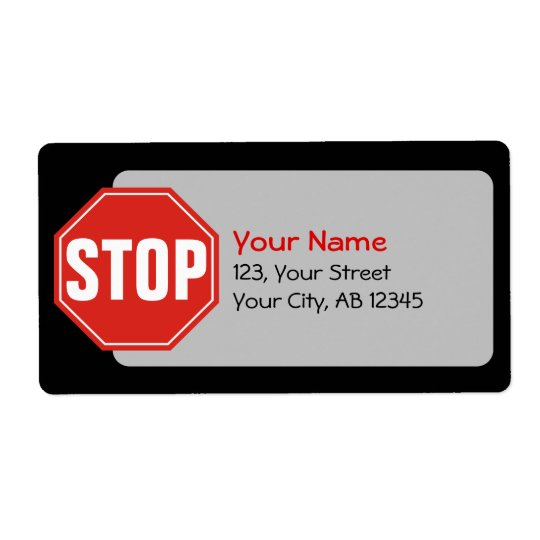 STOP Sign Shipping Label
