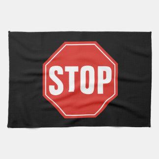 STOP Sign Tea Towel