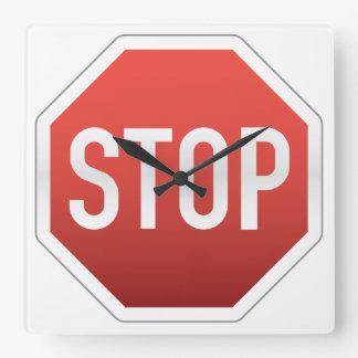 STOP sign Wall Clock