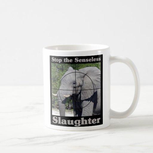 Stop Slaughter-Elephant Coffee Mugs