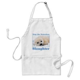 Stop slaughter-seals standard apron