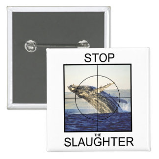 Stop Slaughter-whales 15 Cm Square Badge