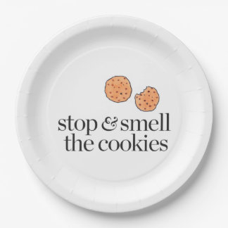 Stop & Smell the Cookies Paper Plate