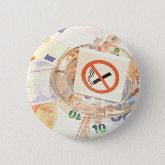 Stop smoking 6 cm round badge