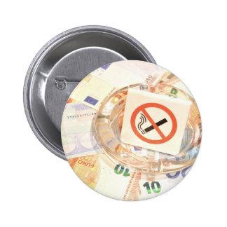 Stop smoking 6 cm round badge