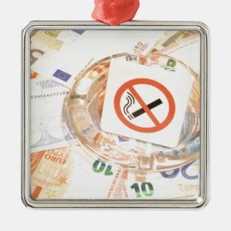 Stop smoking christmas ornament