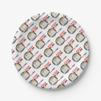 Stop Smoking Reminders - No More Butts 7 Inch Paper Plate