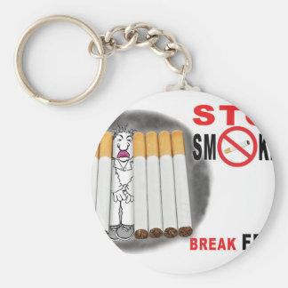 Stop Smoking Reminders - No More Butts Basic Round Button Key Ring