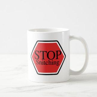 stop snitching basic white mug