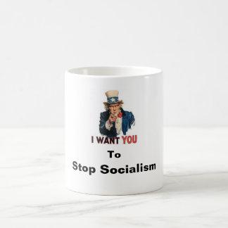 Stop Socialism Basic White Mug