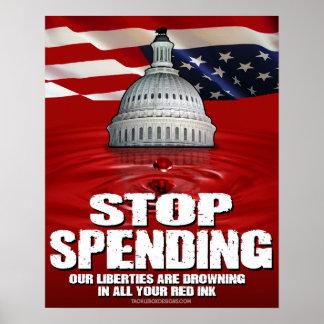 Stop Spending (16x20) Poster