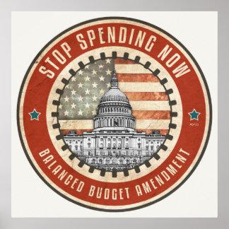 Stop Spending Now Print