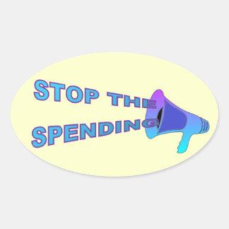 Stop Spending Sticker