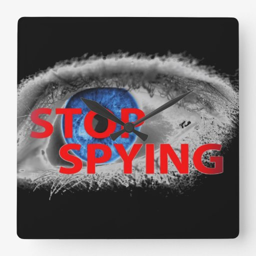 Stop Spying Wallclock