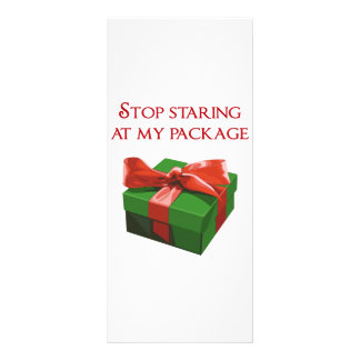 Stop Staring at my Package Christmas Present Personalised Rack Card