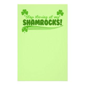 Stop Staring at my Shamrocks! Custom Stationery