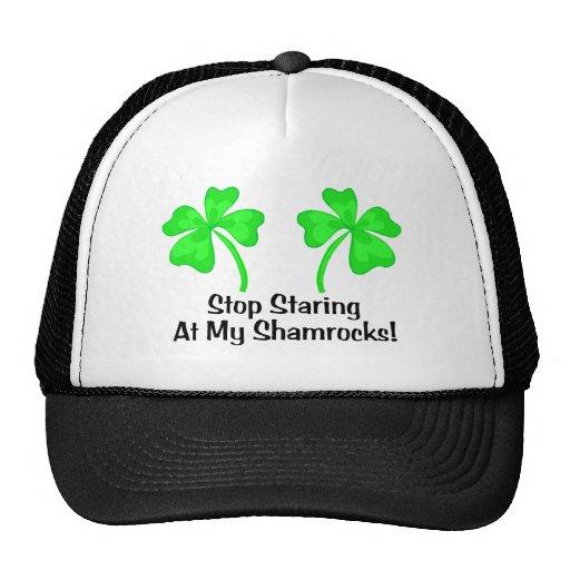 Stop Staring At My Shamrocks Hat