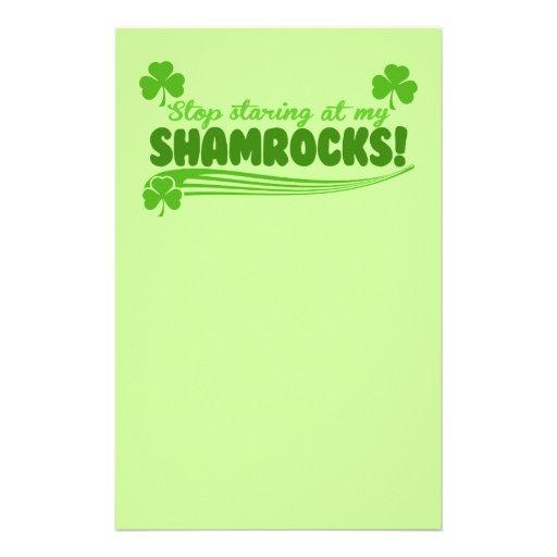 Stop Staring at my Shamrocks! Customized Stationery