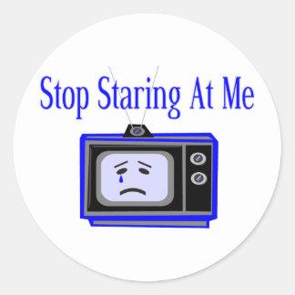 Stop Staring Classic Round Sticker
