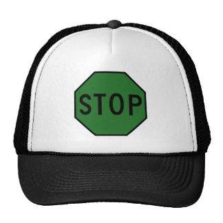 Stop Street Road Sign Symbol Caution Traffic Mesh Hat