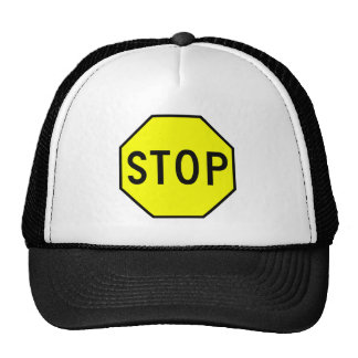 Stop Street Road Sign Symbol Caution Traffic Mesh Hats