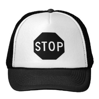 Stop Street Road Sign Symbol Caution Traffic Trucker Hat