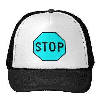 Stop Street Road Sign Symbol Caution Traffic Hats