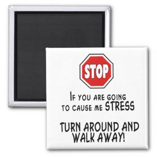 Stop Stress Square Magnet