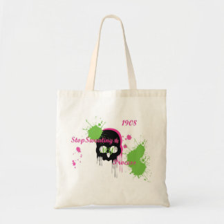 stop sweating my process budget tote bag