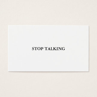 Stop Talking Card