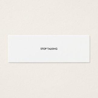 STOP TALKING MINI BUSINESS CARD