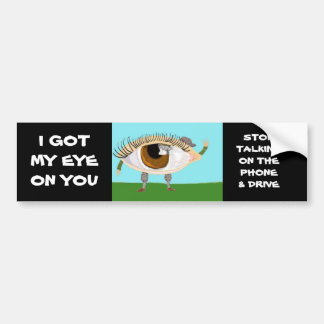 Stop Talking On The Phone And Drive Bumper Sticker