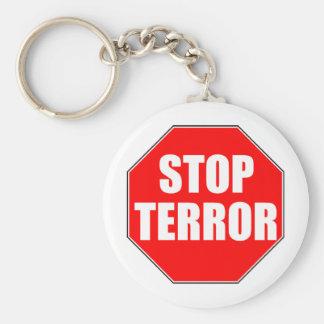 STOP TERROR KEY CHAIN
