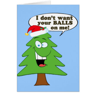 Stop The Abuse Of Christmas Trees Card