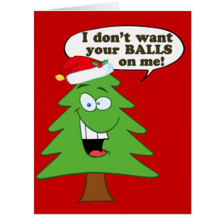 Stop The Abuse Of Christmas Trees Cards
