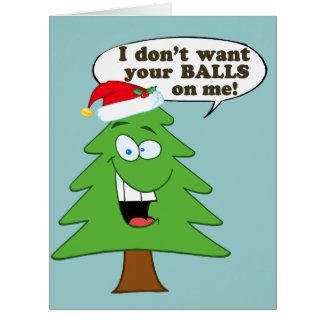 Stop The Abuse Of Christmas Trees Greeting Card