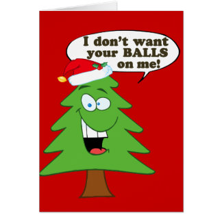 Stop The Abuse Of Christmas Trees Greeting Cards