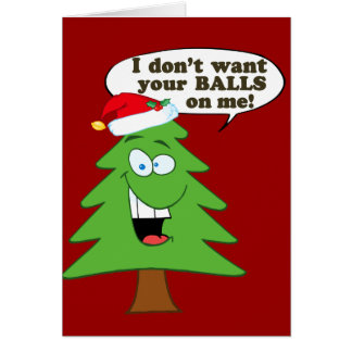 Stop The Abuse Of Christmas Trees Note Card