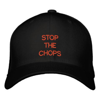 STOP THE CHOP - In San Francisco colors Embroidered Hat