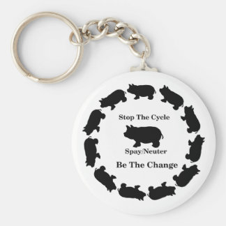Stop The Cycle, Be The Change, Basic Keychain