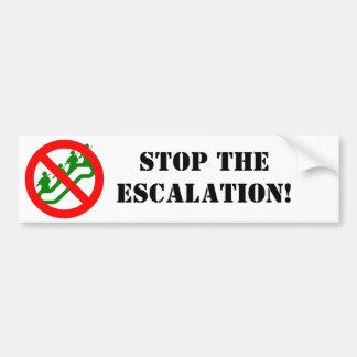 STOP THE ESCALATION! BUMPER STICKER