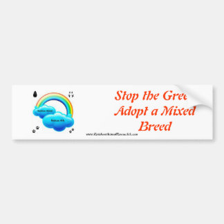 Stop The Greed Bumper Sticker