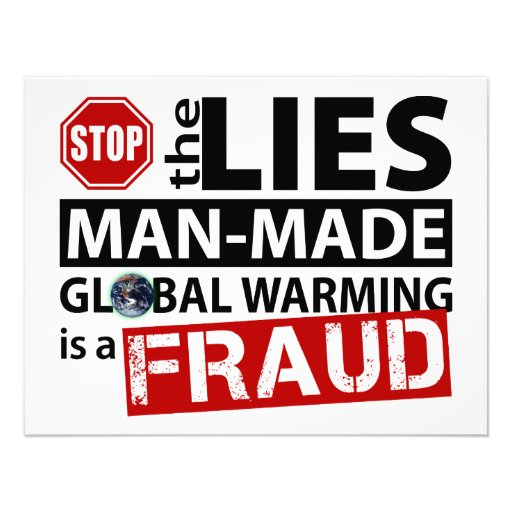 Stop the Lies about Global Warming Custom Invitation