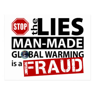 Stop the Lies about Global Warming Postcard