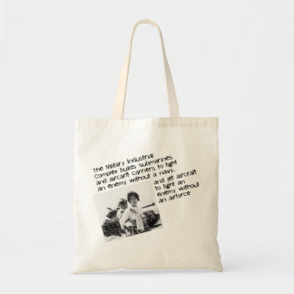 Stop The Military Industrial Complex Canvas Bags