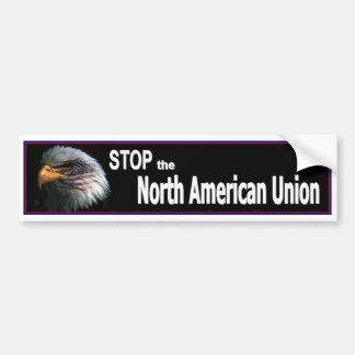 Stop The North American Union Bumper Sticker