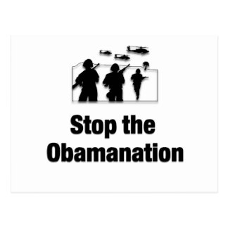 Stop the Obamanation Post Card